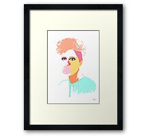 Gum Girl Framed Print