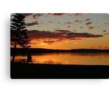 Alone at SunSet on Tuggerah Lakes Canvas Print