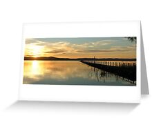 Sunset at Long Jetty Greeting Card