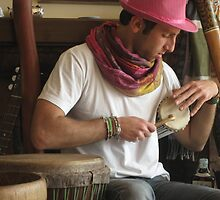 "Marco Selvaggio with Tama ""talking drum"" by Marco Selvaggio"