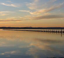 Soft sunset at Long Jetty by Tam  Locke