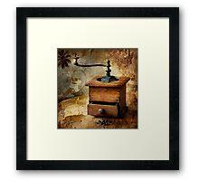 The old coffee grinder Framed Print
