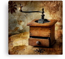The old coffee grinder Canvas Print