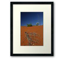 Red sand dune, NT, Australia Framed Print