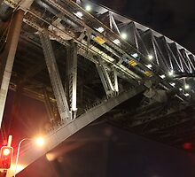 Sydney Harbour Bridge at Night by Alyshia Hansen