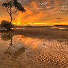 Sunset at Wellington Point, Brisbane by Lawrie McConnell