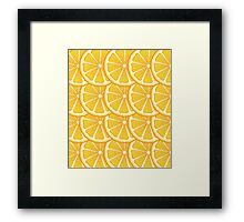 Orange Slices Background Framed Print