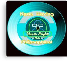 Neon Waxing Philosophical Logo Canvas Print