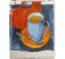 Tea in a blue cup iPad Case/Skin