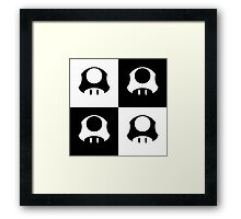 Mushroom in Black and White Framed Print