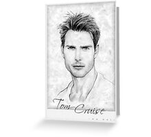 Tom Cruise portrait Greeting Card