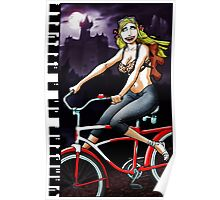 Vampire on a Bicycle Poster
