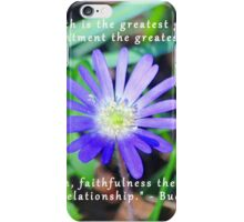 Floral Themed Inspirational Photography iPhone Case/Skin