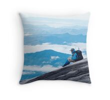 The Land Beneath the Clouds Throw Pillow