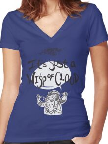 Wisp of Cloud Women's Fitted V-Neck T-Shirt