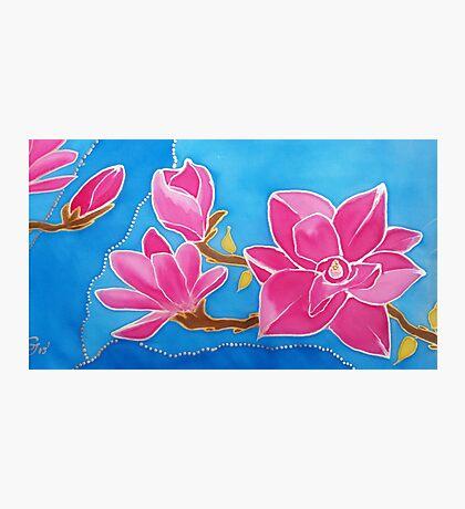 MAGNOLIA. Nature. Flower. Original SILK painting Photographic Print