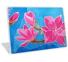 MAGNOLIA. Nature. Flower. Original SILK painting Laptop Skin