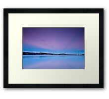 The Colours of Winter - Cornelian Bay, Hobart Framed Print