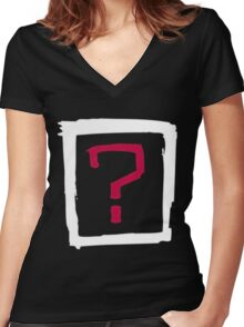 Where Is the Love Women's Fitted V-Neck T-Shirt