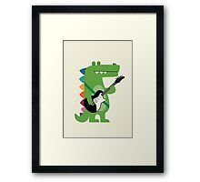 Croco Rock Framed Print