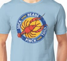 Suck Heads Pinch Tails - Distressed Unisex T-Shirt