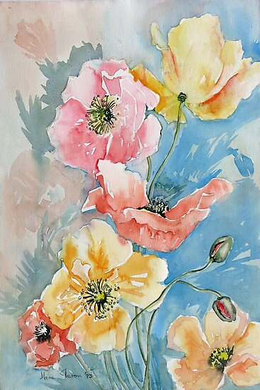 Poppies I by Marie Theron