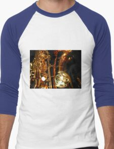 The Beauty of Bronze - Saxophone Engravings Men's Baseball ¾ T-Shirt