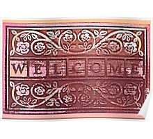 WELCOME (red) Poster