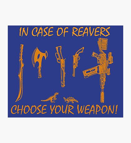 In Case Of Reavers... Photographic Print
