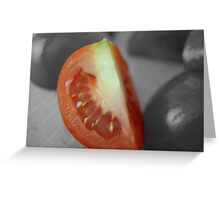 Tomato Wedge Greeting Card