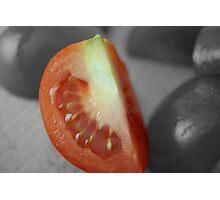 Tomato Wedge Photographic Print