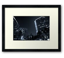b&w nights in beijing Framed Print