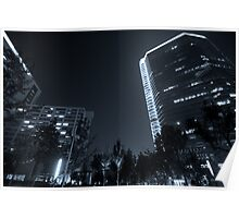 b&w nights in beijing Poster