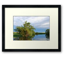 The Glow After the Storm Framed Print