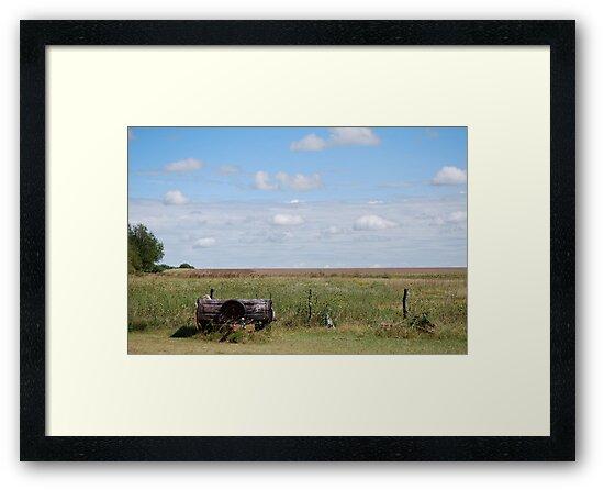 Abandoned Trailer in Kansas Country Field by Suz Garten