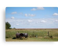 Abandoned Trailer in Kansas Country Field Canvas Print