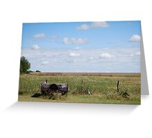 Abandoned Trailer in Kansas Country Field Greeting Card