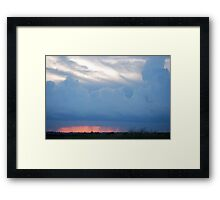 Stormy Kansas Sunset Sky  Framed Print