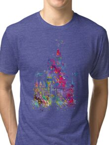 Princess Castle Watercolor Tri-blend T-Shirt