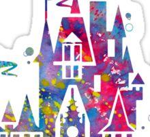 Cinderella Disney Princess Castle Watercolor Sticker