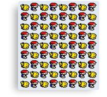 Pikachu follows Ash Canvas Print