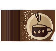 Coffee Cup Time Modern Illustration Poster