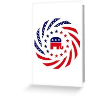 Republican Murican Patriot Flag Series Greeting Card