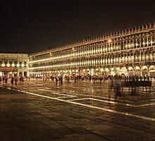 Piazza San Marco at Night by Ann Garrett