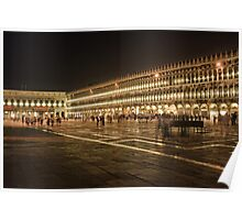 Piazza San Marco at Night Poster
