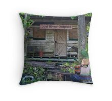 Lost River Outpost  Throw Pillow
