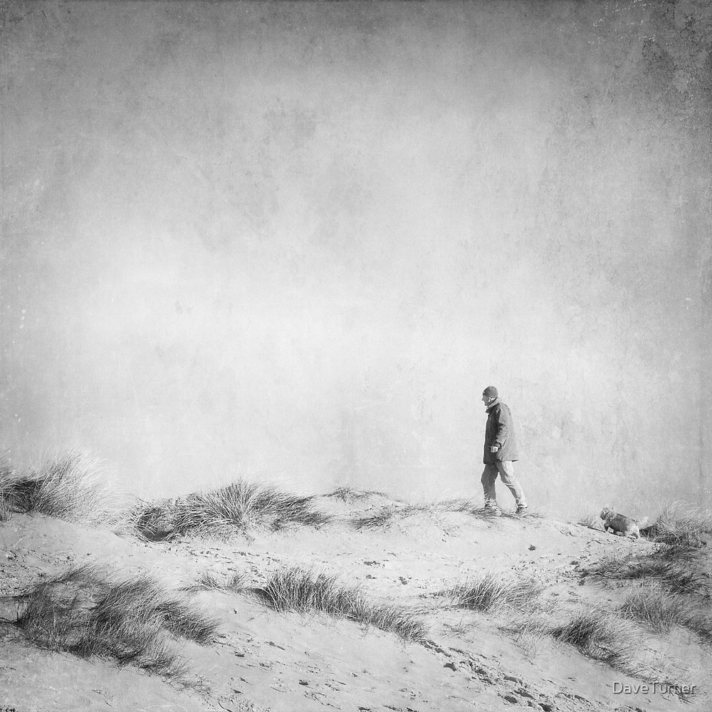 One Man and his Dog, Wells Next the Sea, Norfolk by DaveTurner