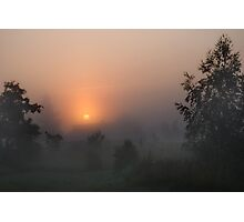 Sunrise in mist Photographic Print