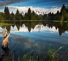 Schwabacher Landing Sunrise on Teton Mountains by cavaroc