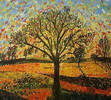 Sunset With Black Trees by Peter Pesta